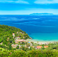 Elba island beautiful coastlines in italy Royalty Free Stock Photography