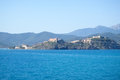 Elba island the ferry trip italy september beaches and interior territory of Stock Photos