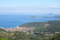 Elba island the ferry trip italy september beaches and interior territory of Royalty Free Stock Photography