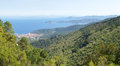 Elba island the sea view italy september beaches and interior territory of Royalty Free Stock Photography