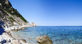 Elba island the sea view italy september beaches and interior territory of Stock Images