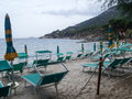 Elba island the sea view italy september beaches and interior territory of Stock Photography