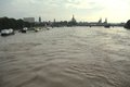 Elbe flood in dresden germany on june th Royalty Free Stock Photography