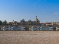 Elbe river in dresden germany june saxony germany Stock Image