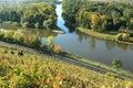 Elbe and Vltava confluence Royalty Free Stock Photo