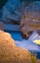 Elbow Falls at Nightfall Stock Photo