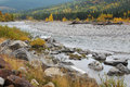Elbow river valley in autumn Stock Images
