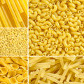 Elbow, Spaghetti, Farfalle, Noodle pasta collage Stock Photo
