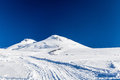 Elbrus caucasus mountains mount west m and east snow ice on trail to the top landscape in autumn or winter russia beautiful Stock Image