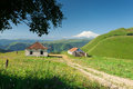 Elbrus view of in kabardino balkaria Royalty Free Stock Image