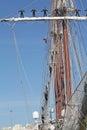 Elcano, Sailors on the masts.