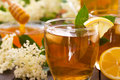 Elderberry flower refreshment juice Royalty Free Stock Photo
