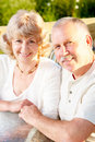 Elderly couple in love Royalty Free Stock Image