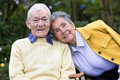 Elderly couple outdoors Stock Images