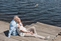 Elderly Couple Relaxing While ...