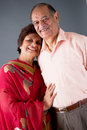 Elderly East Indian Couple Stock Photo