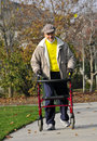 image photo : Elderly Friend Exercising in Park 2