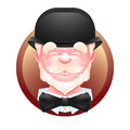 Elderly gentleman avatar icon