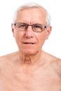 Elderly man face Royalty Free Stock Photo