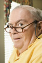 Elderly man with glasses. Stock Photography