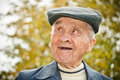 Elderly man in hat Royalty Free Stock Photo