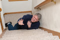 Elderly Man Slip Fall Home Accident Royalty Free Stock Photo