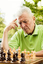 Elderly man thinking Royalty Free Stock Photo
