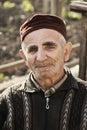 Elderly man wearing cap Royalty Free Stock Photo