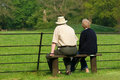 Elderly Pensioners Relaxing Royalty Free Stock Image