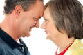 Elderly romantic couple, closeup shot Royalty Free Stock Photography
