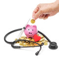 The elderly saving money for healthcare Royalty Free Stock Photo