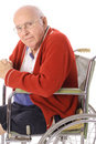 Elderly senior in wheelchair Stock Photos