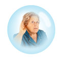 Elderly woman - hearing problems Royalty Free Stock Photography