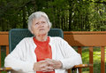 Elderly woman thinking Royalty Free Stock Photos