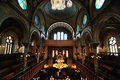 Eldridge Street Synagogue Interior Stock Photography