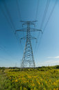 Elecrical pylon an electrical or tower carries high voltage lines Royalty Free Stock Photography