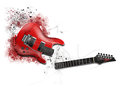 Electic guitar red electro on a white background Royalty Free Stock Images