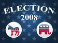 Election 2008 Stars Background Royalty Free Stock Images