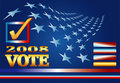 Election 2008 Web Banner Royalty Free Stock Images