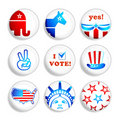 Election badges Stock Image