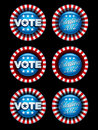 Election Badges Set Royalty Free Stock Photography