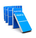 Election Blue Domino Royalty Free Stock Photo