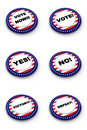 Election button collection Stock Photos
