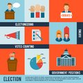 Election Icon Flat Royalty Free Stock Photo