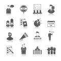 Election icon set government politics democratic voting process isolated vector illustration Stock Photos