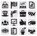Election icons Stock Photography