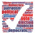 Election info text graphics and arrangement concept word cloud on white background Stock Photos