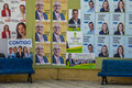 Election posters wall covered with political for the local in gran canaria spain Royalty Free Stock Photo