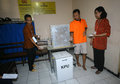 Election prisoners at the police station were voted in the presidential in the city of solo central java indonesia Royalty Free Stock Photo