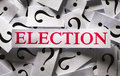 Election questions about the too many question marks Royalty Free Stock Image